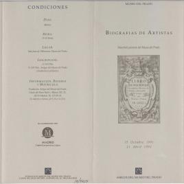 Biografías de artistas : veintitrés pintores del Museo del Prado / Amigos del Museo del Prado.