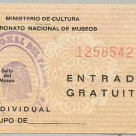 Billete de entrada al Museo del Prado [1977-1980]
