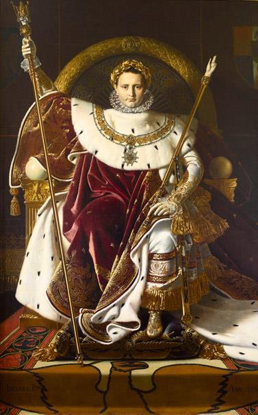 Napoleón I en su trono imperial