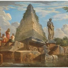 Ruinas con la Pirámide de Cayo Cestio