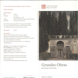 Grandes obras del Museo del Prado : Salas del Museo : otoño 2012 / Amigos del Museo del Prado.