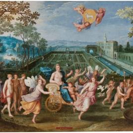 Alegoría del mes de Abril con el triunfo de Venus y el signo de Tauro