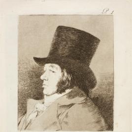Autorretrato. Francisco Goya y Lucientes, pintor.