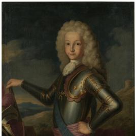 Luis I, con armadura, a los 10 años