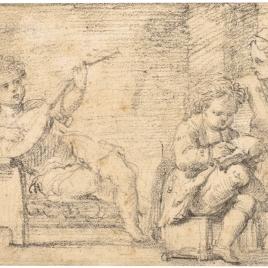 Tres niños músicos