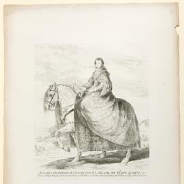 La reina Isabel de Borbón, a caballo