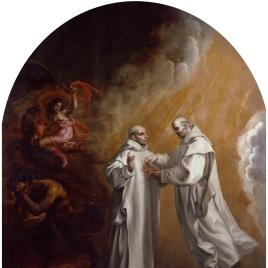 La aparición de Basilio de Borgoña a su discípulo Hugo de Lincoln
