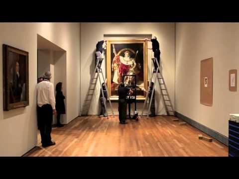 """Montaje de """"Napoleón I en su trono imperial"""", Ingres"""
