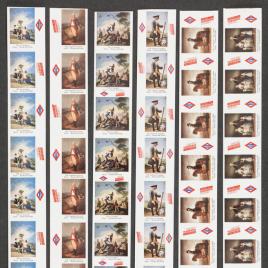 Seis bobinas de billetes del Metro de Madrid de 1989