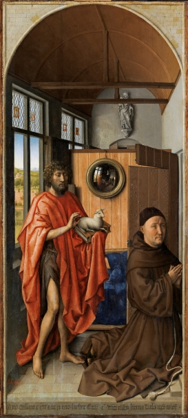 Saint John the Baptist and the Franciscan Heinrich von Werl