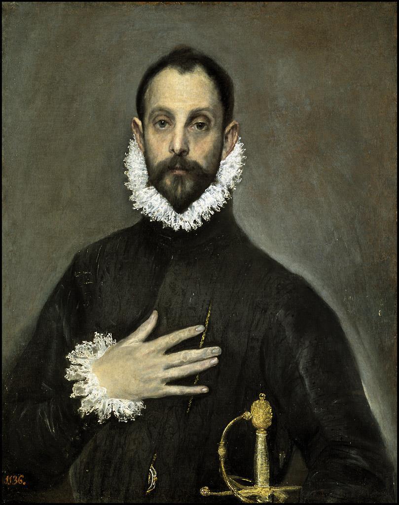 Caballero de la mano en el pecho, El [El Greco]