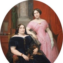 Magdalena Parrella y Urbieta y su hija, Elisa Tapia y Parrella