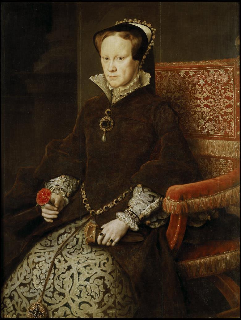 Reina María de Inglaterra, segunda mujer de Felipe II, La [Antonio Moro]