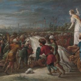 Armida en la batalla frente a los sarracenos.
