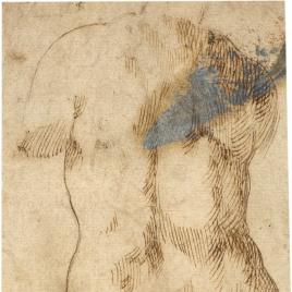 Copia de una estatua con desnudo femenino de espaldas