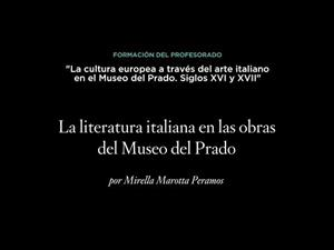 La literatura italiana en las obras del Museo del Prado. Siglos XVI y XVII
