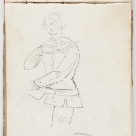 Estudio de vestimenta de un guerrero medieval