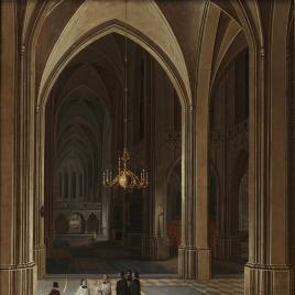 Interior de iglesia: el viático