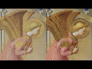 "Restauración de dorados: ""La Anunciación"" de Fra Angelico"