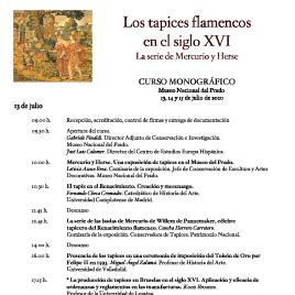 Los tapices flamencos en el siglo XVI [Recurso electrónico] : la serie de Mercurio y Herse : curso monográfico / Museo Nacional del Prado.