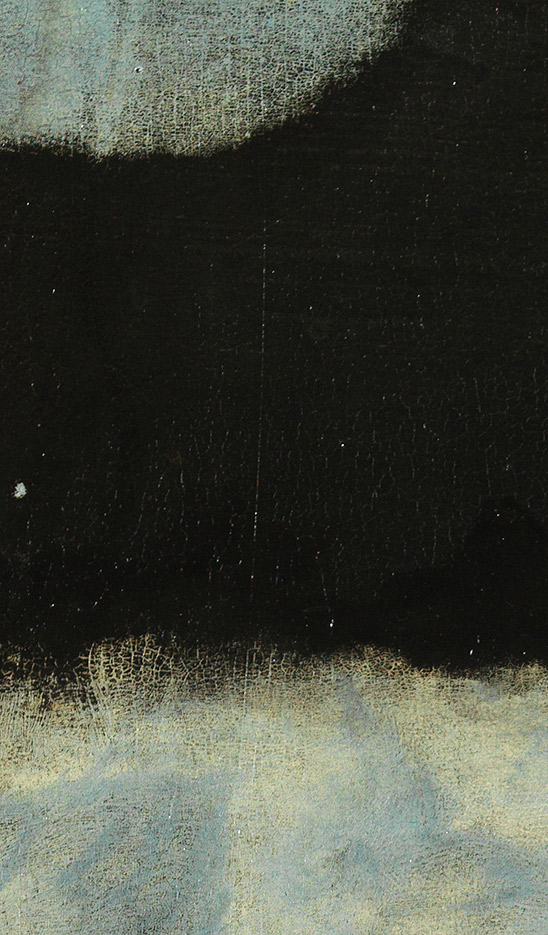 <p><strong>Fig.1: </strong>Layer of black overpainting</p>