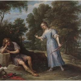 Reinaldo enamorado de Armida, en la isla de Orontes