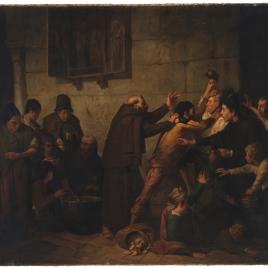 El reparto de la sopa en un convento de capuchinos