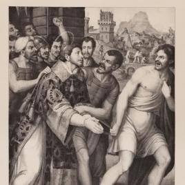 San Esteban conducido al martirio