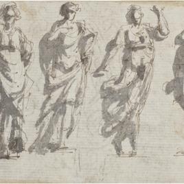Seis apuntes de figuras femeninas