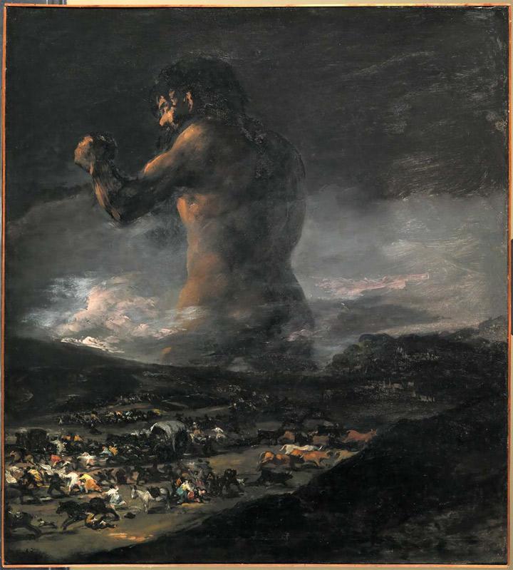 El coloso y su atribución a Goya
