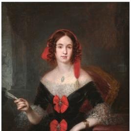 Retrato de dama con abanico