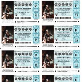 Capilla de billete de Lotería Nacional para el sorteo de 14 de enero de 2017