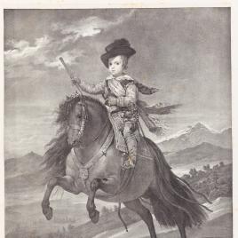 El príncipe Baltasar Carlos, a caballo