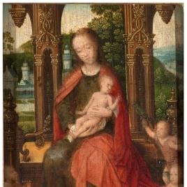 La Virgen, el Niño, San Juanito y dos ángeles
