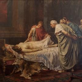 Nerón ante el cadáver de su madre Agripina