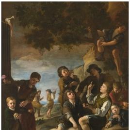 Niños jugando a los dados
