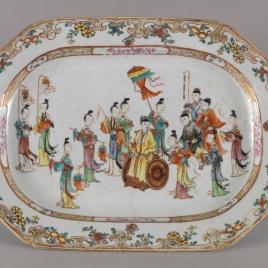 Fuente ochavada de porcalana china. Compañía de las Indias.
