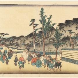 Recinto del templo Zôjôji en Shiba (Shiba Zôjôji sannai no zu)