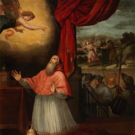 Visión del papa Inocencio III sobre la llegada de San Juan de Mata y San Félix de Valois