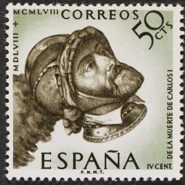 Serie de sellos IV Centenario de la muerte de Carlos I y V de Alemania