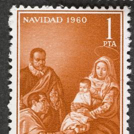 Serie de sellos La Adoración de los Reyes de Velázquez