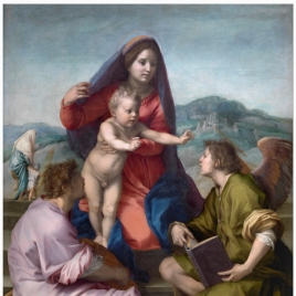 The Virgin and Child between Saint Matthew and an Angel