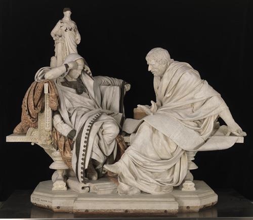 Nerón y Séneca de Eduardo Barrón 'dialogan' en el Prado entre las esculturas que su propio autor catalogó y restauró