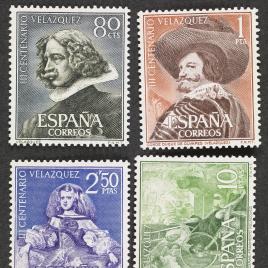 Serie de sellos III Centenario de la muerte de Velázquez