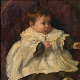 Fernando, hijo del pintor, con una llave en la mano