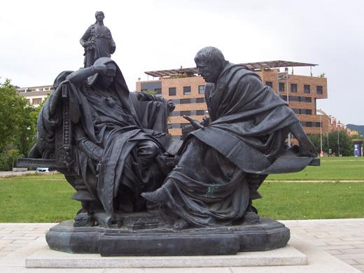 <p>Replica of<em>Nero and Seneca</em>, by Eduardo Barrón, in Córdoba</p>