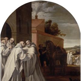 San Bernardo de Claraval visita a Guigo I en la cartuja