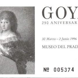 Dos billetes de entrada a la exposición