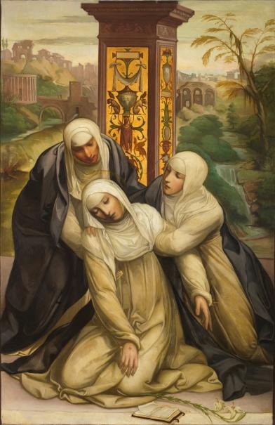 Estigmatización de Santa Catalina de Siena, copia de Il Sodoma