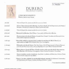 Durero [Recurso electrónico] : obras maestras de la Albertina : curso monográfico / Museo Nacional del Prado.